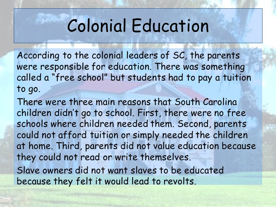Colonial Education
