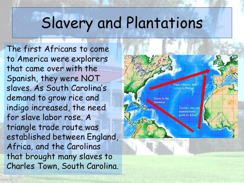 Slavery and Plantations