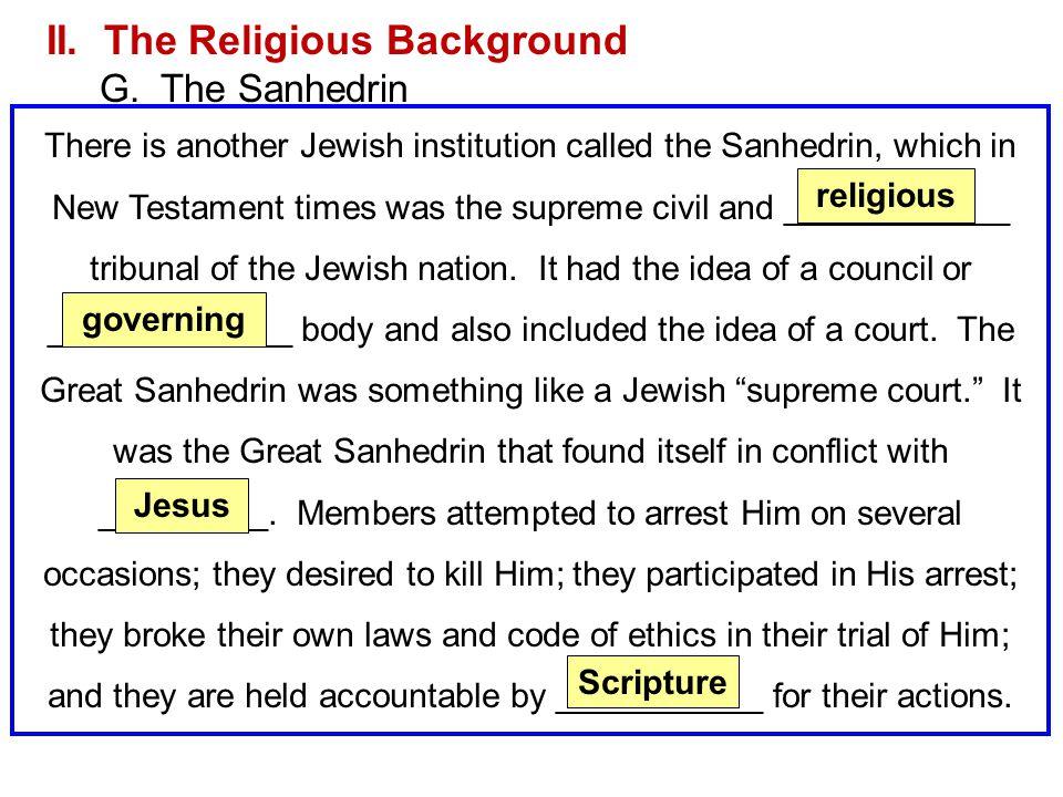 II. The Religious Background
