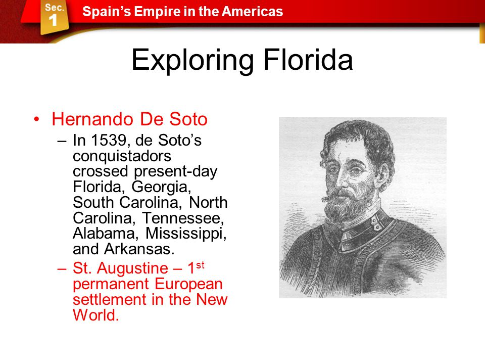 Exploring Florida Hernando De Soto