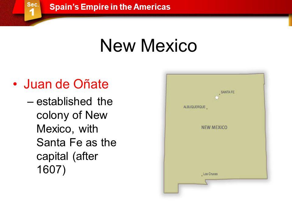 New Mexico Juan de Oñate
