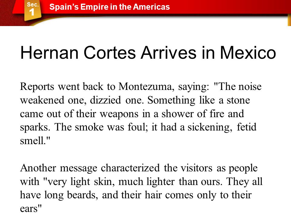 Hernan Cortes Arrives in Mexico
