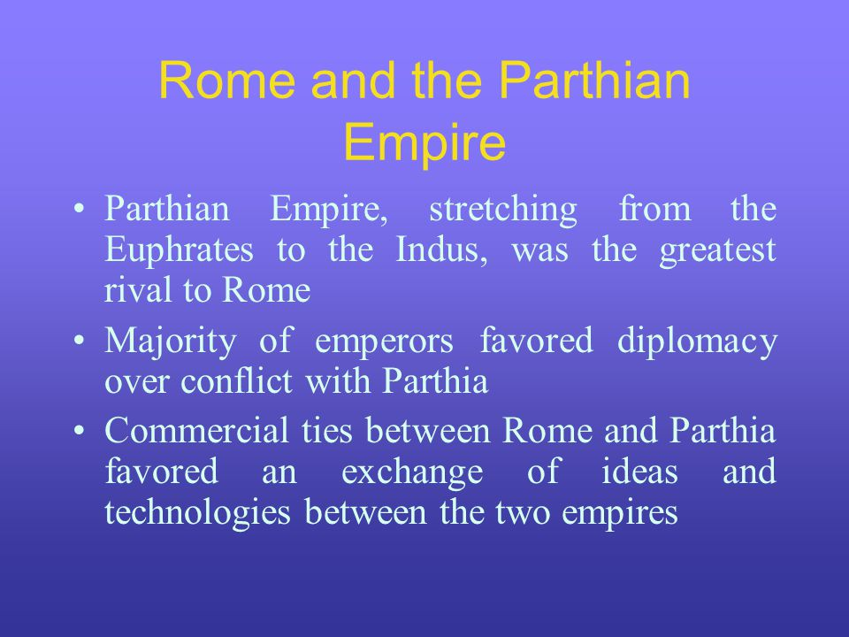 Rome and the Parthian Empire
