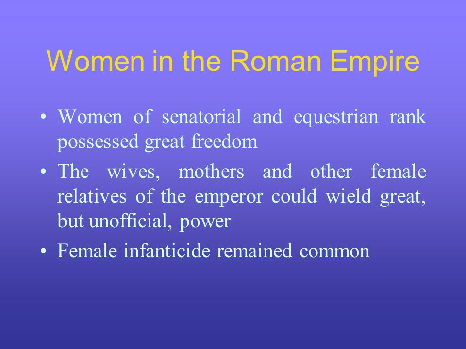 Women in the Roman Empire