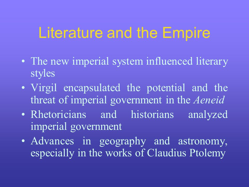 Literature and the Empire
