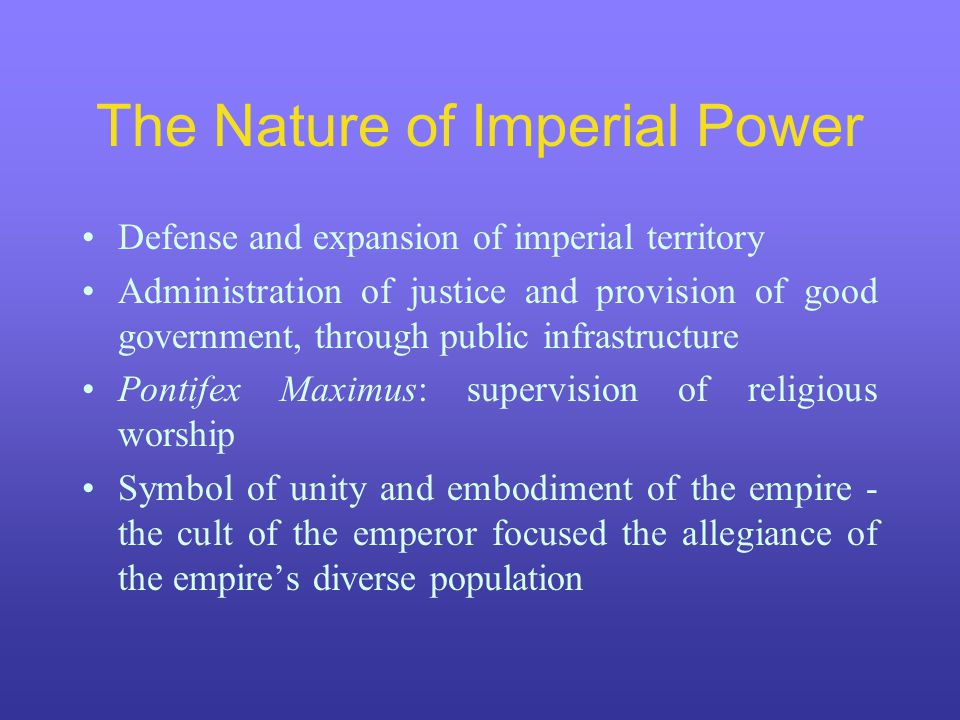 The Nature of Imperial Power