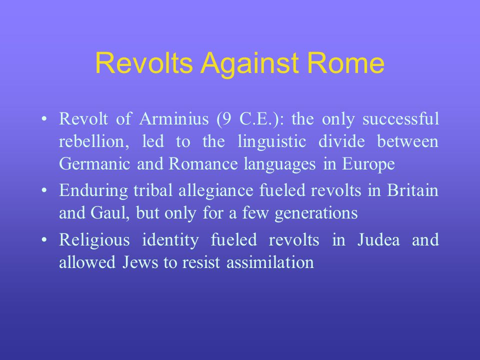Revolts Against Rome