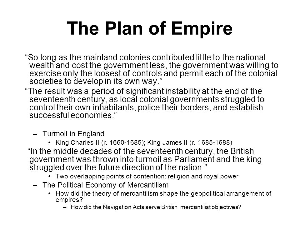 The Plan of Empire