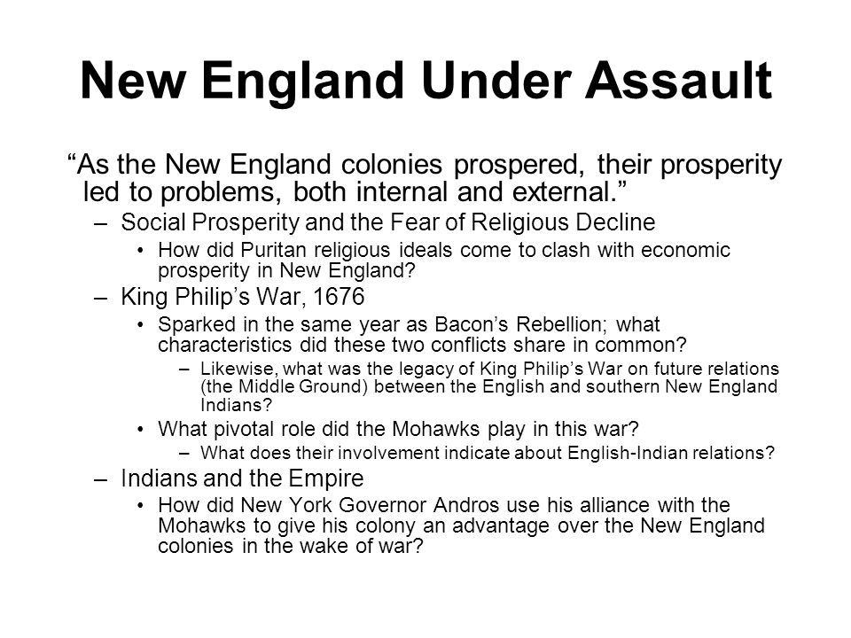 New England Under Assault