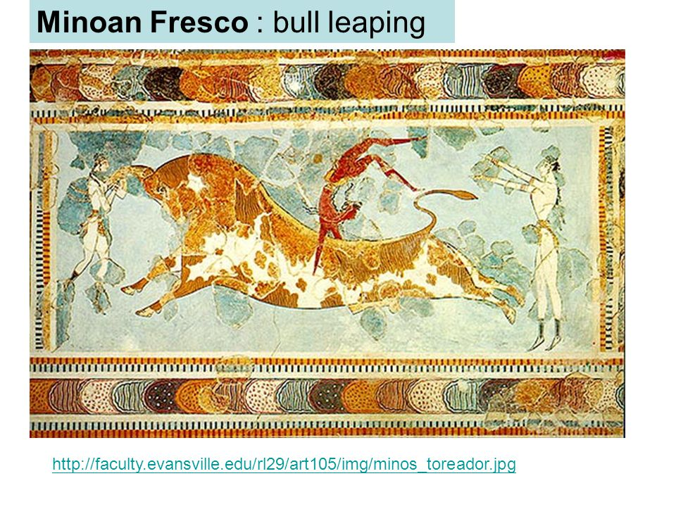 Minoan Fresco : bull leaping