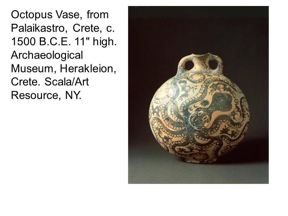 Octopus Vase, from Palaikastro, Crete, c. 1500 B. C. E. 11 high