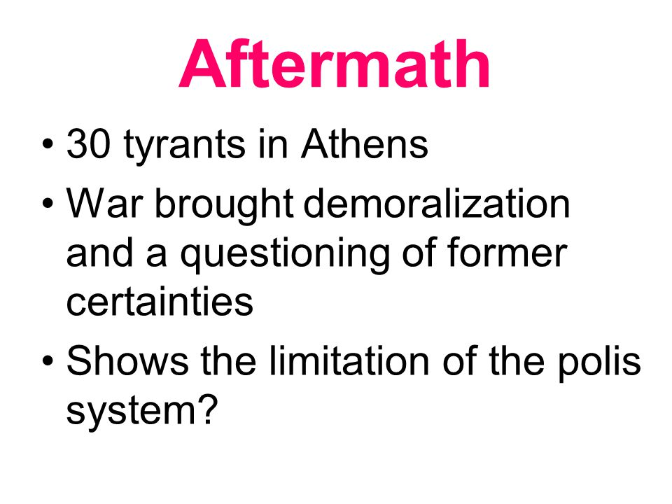 Aftermath 30 tyrants in Athens