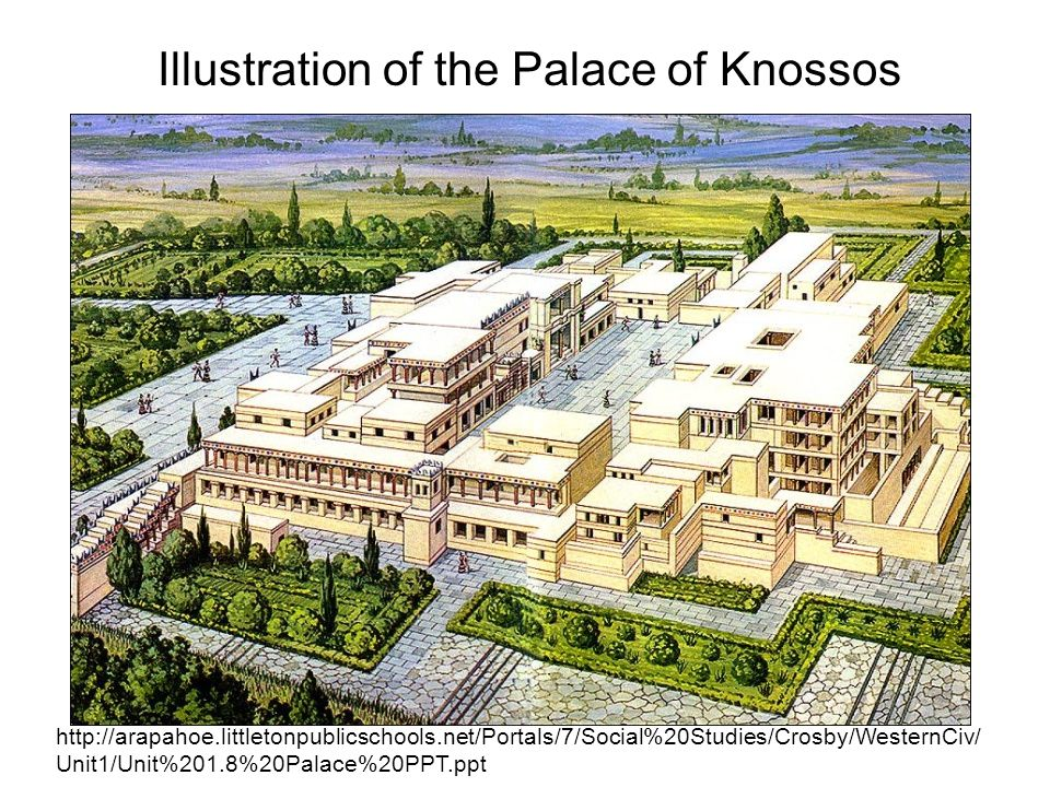 Illustration of the Palace of Knossos