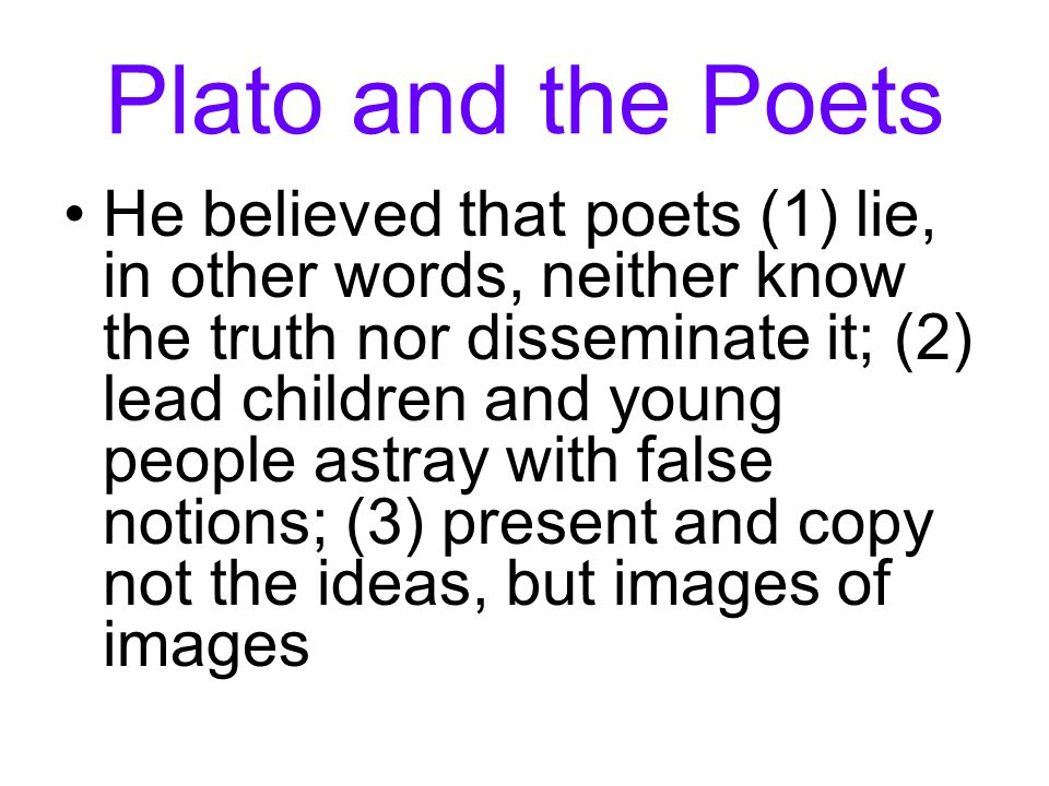 Plato and the Poets