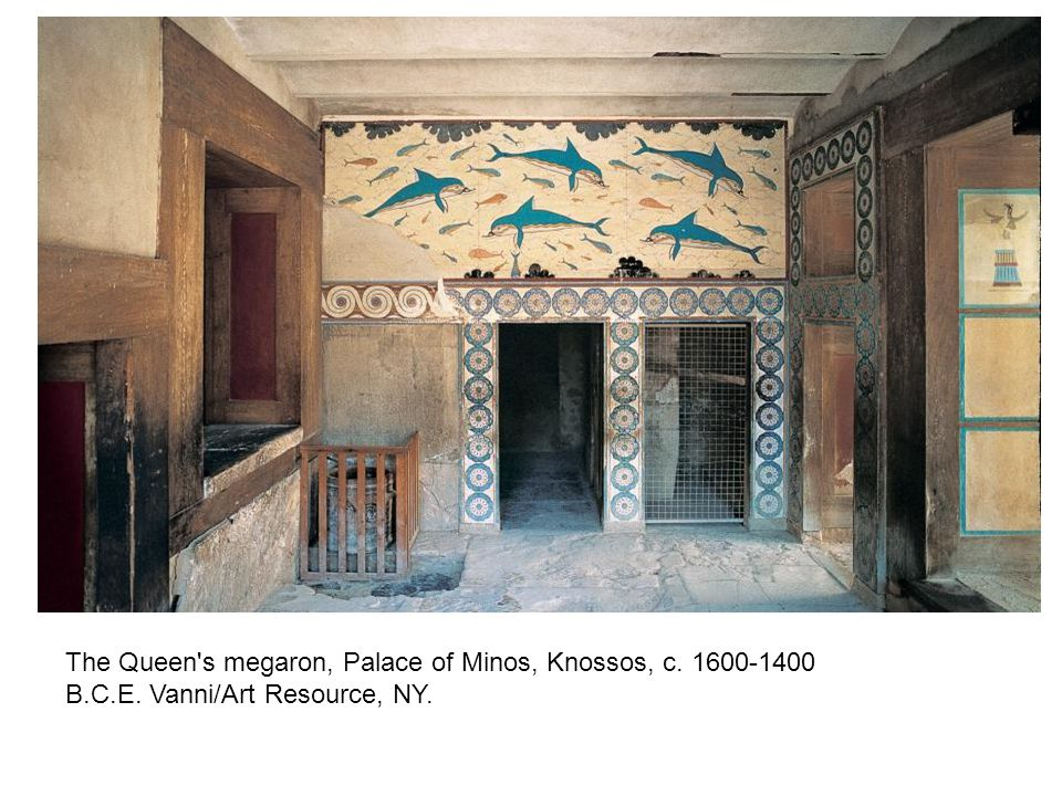 The Queen s megaron, Palace of Minos, Knossos, c. 1600-1400 B. C. E