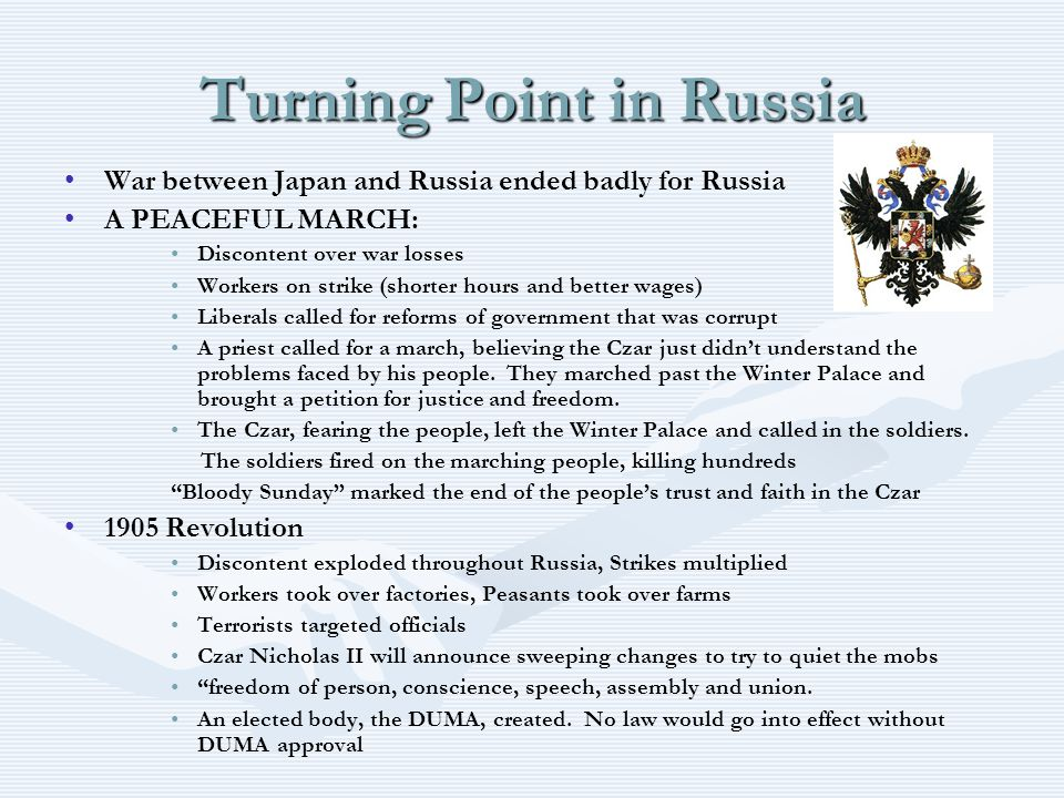 Turning Point in Russia