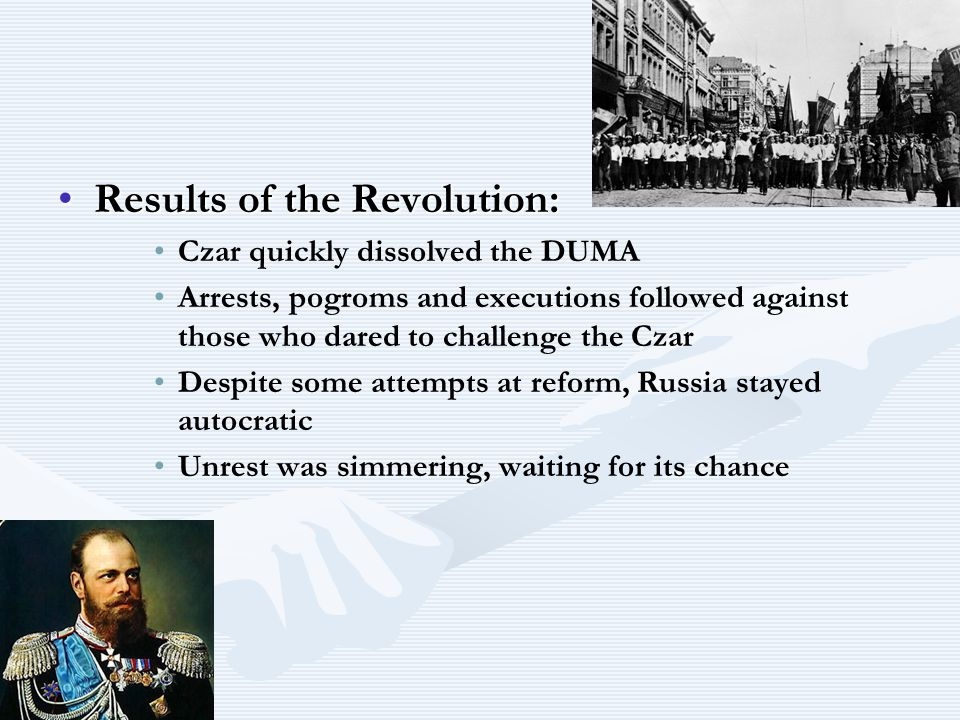 Results of the Revolution: