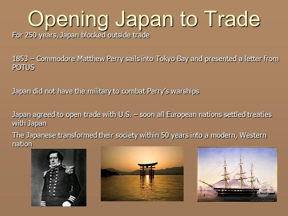 Opening Japan to Trade