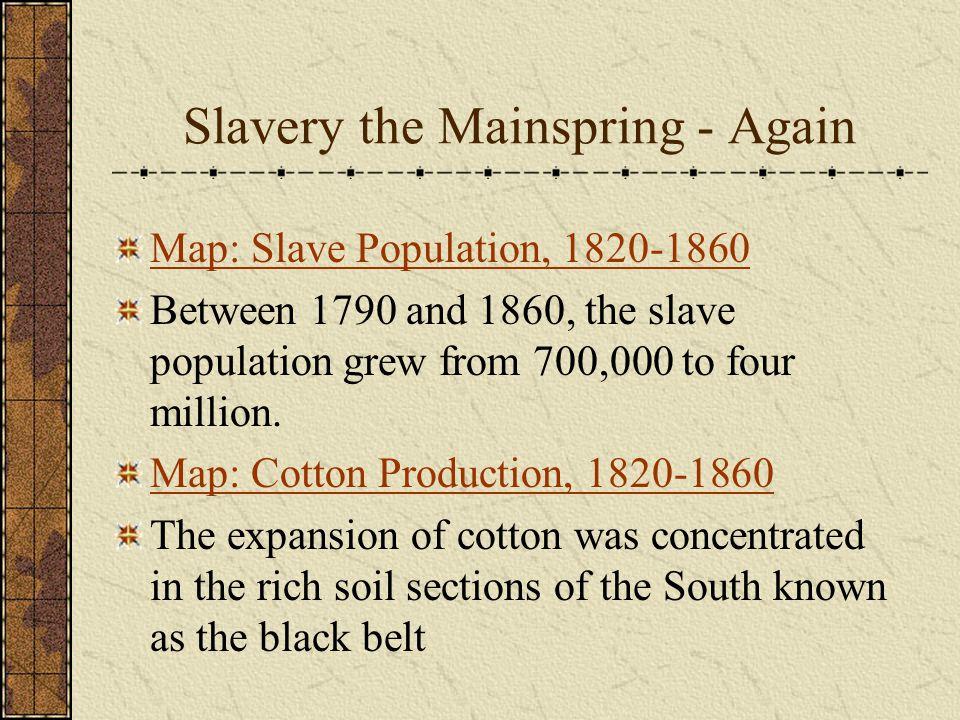 Slavery the Mainspring - Again