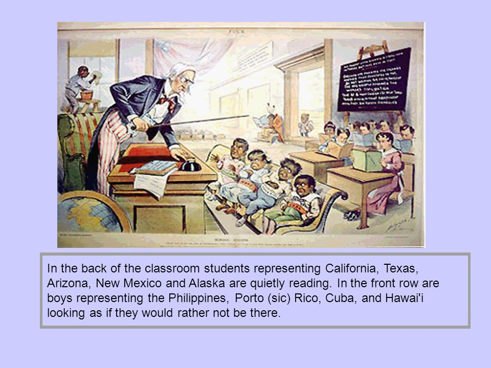 In the back of the classroom students representing California, Texas, Arizona, New Mexico and Alaska are quietly reading.