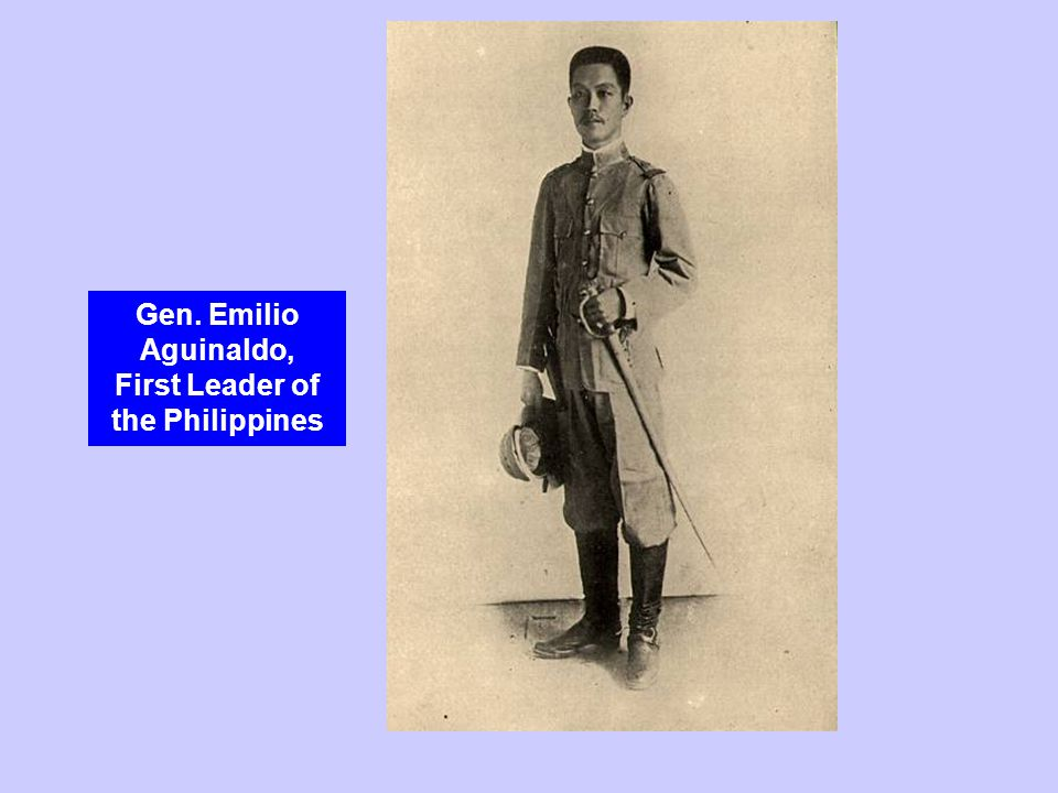Gen. Emilio Aguinaldo, First Leader of the Philippines