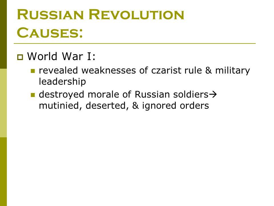 Russian Revolution Causes: