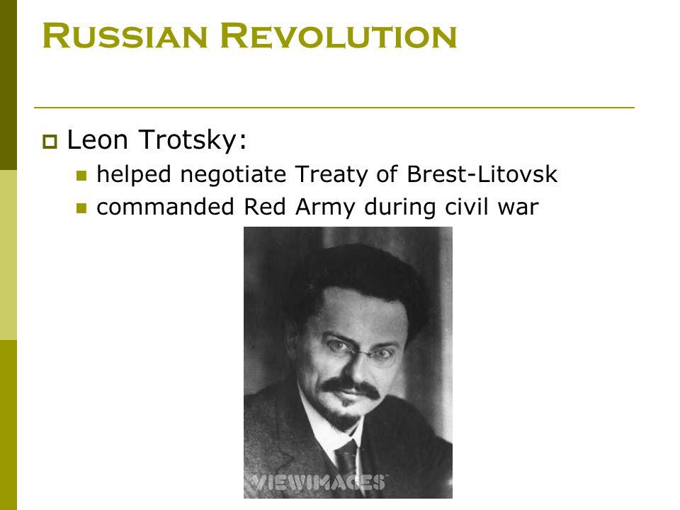 Russian Revolution Leon Trotsky: