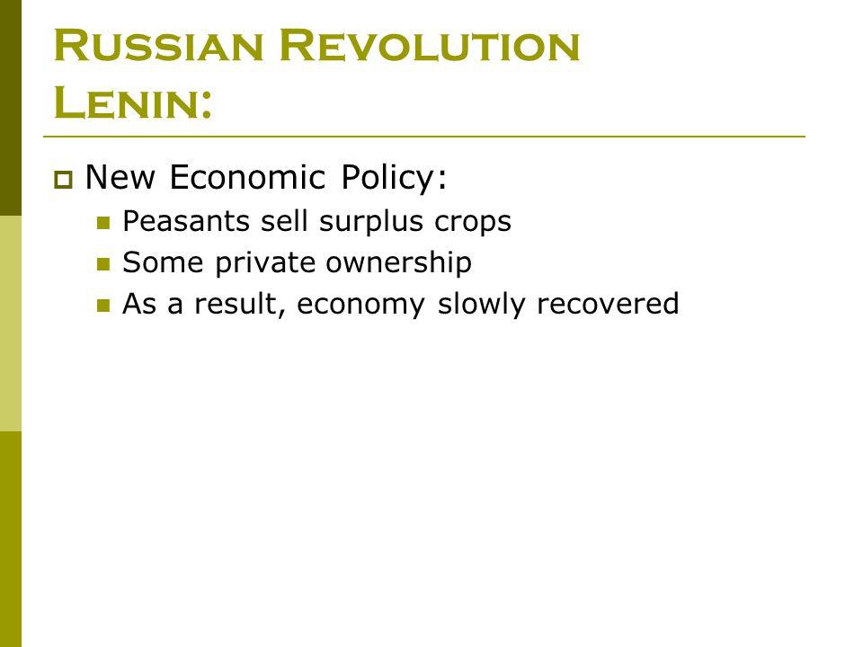 Russian Revolution Lenin: