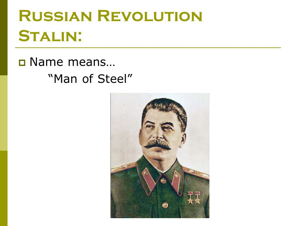 Russian Revolution Stalin: