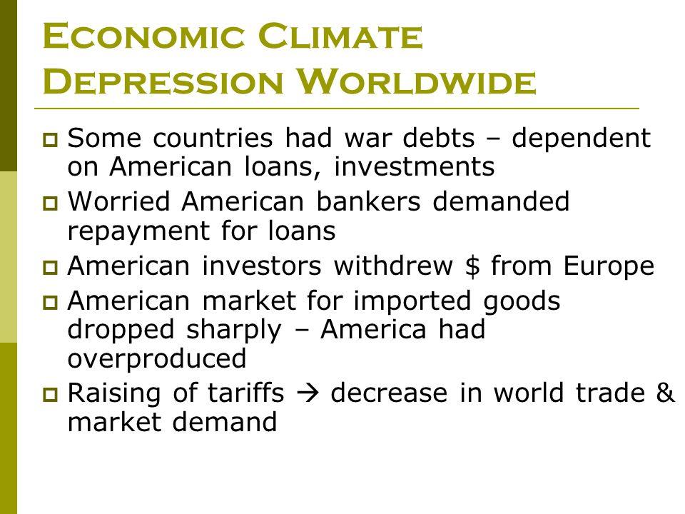 Economic Climate Depression Worldwide