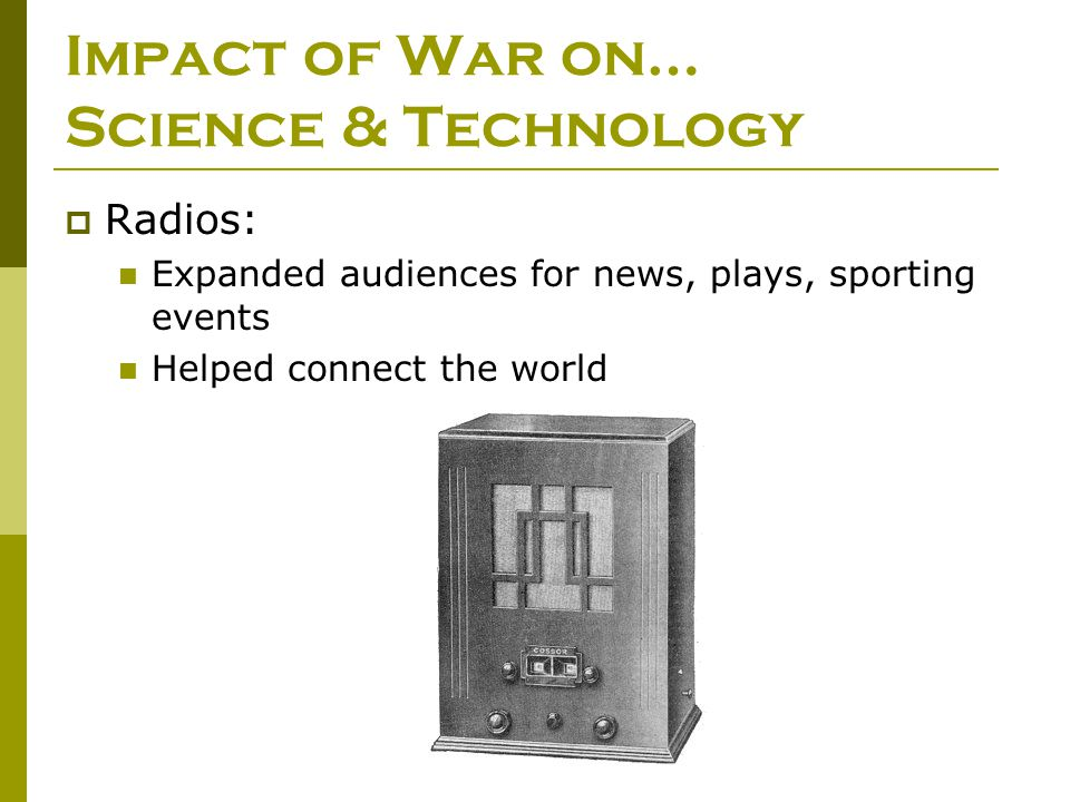 Impact of War on… Science & Technology