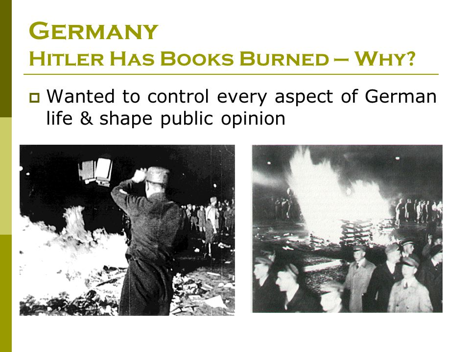 Germany Hitler Has Books Burned – Why