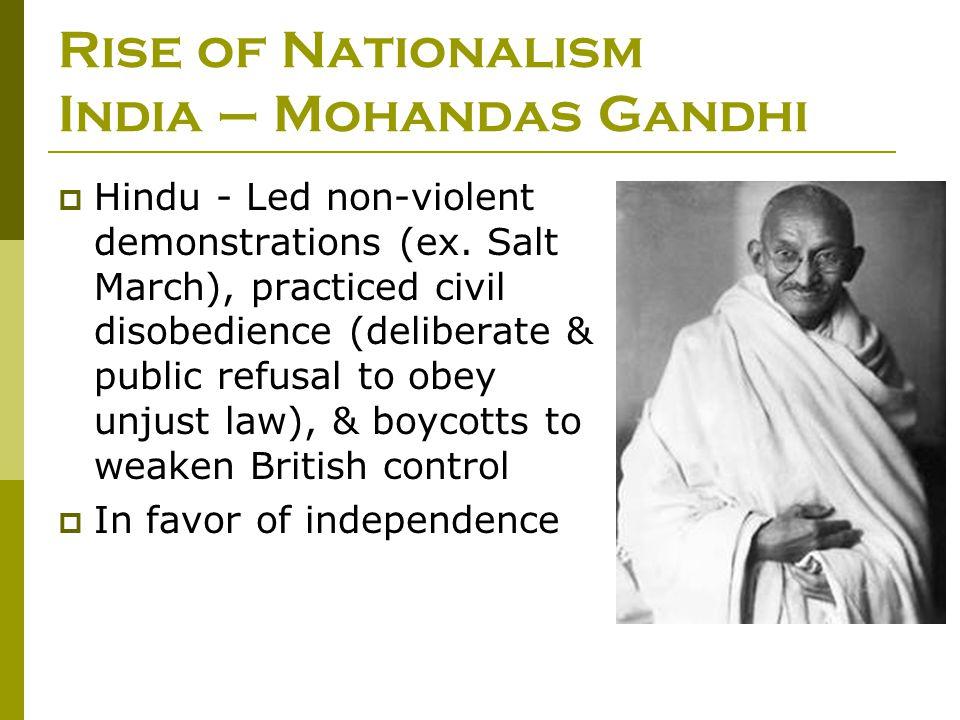 Rise of Nationalism India – Mohandas Gandhi