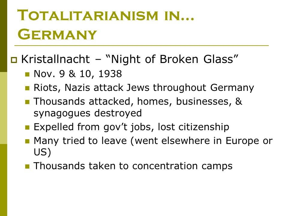 Totalitarianism in… Germany