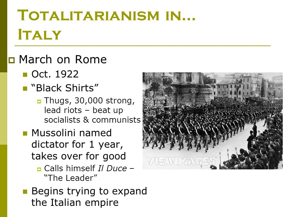 Totalitarianism in… Italy