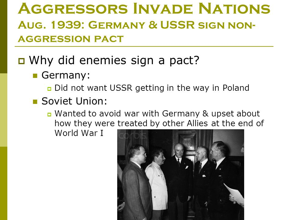 Aggressors Invade Nations Aug