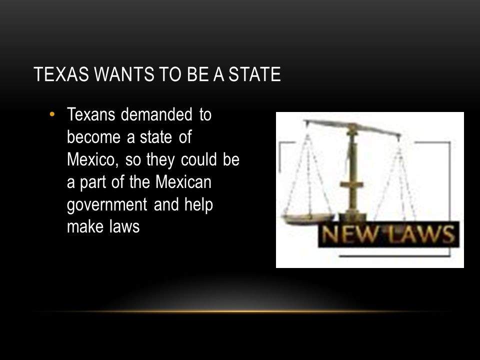 Texas wants to be a state