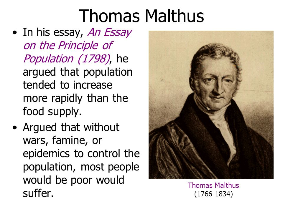 Malthus essay on population citation