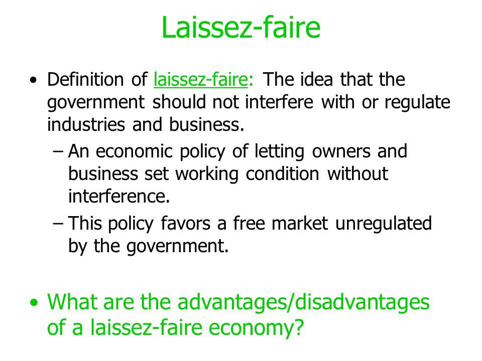 laissez faire economics essay