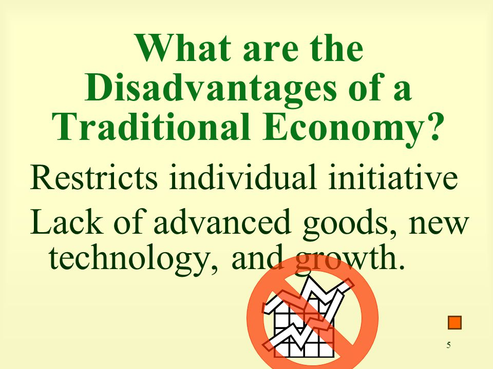 What are the Disadvantages of a Traditional Economy