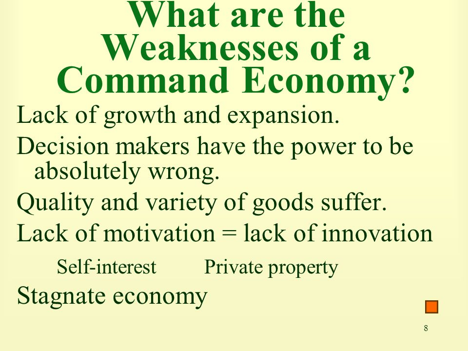 What are the Weaknesses of a Command Economy