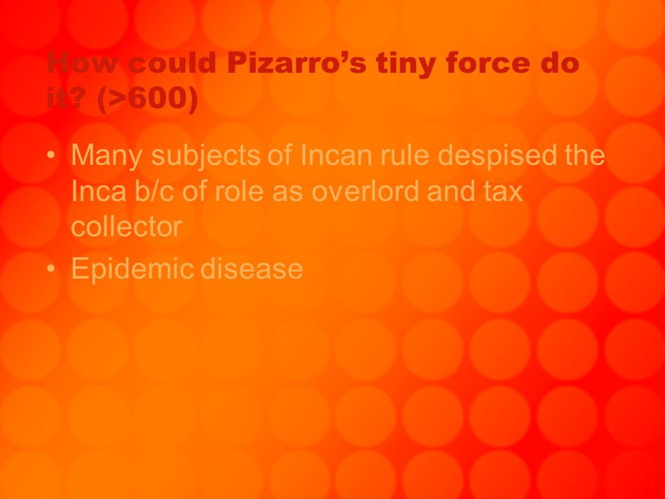 How could Pizarro's tiny force do it (>600)