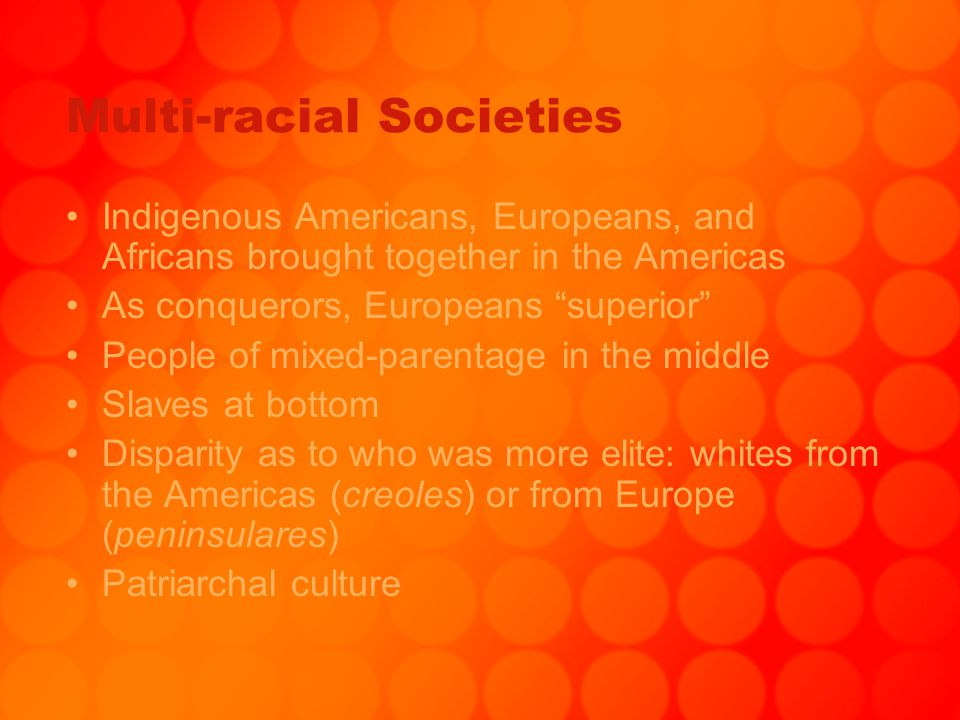 Multi-racial Societies