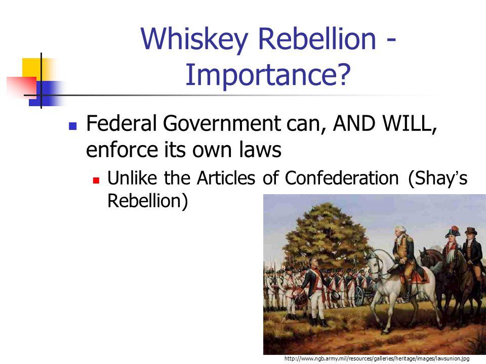Whiskey Rebellion -Importance