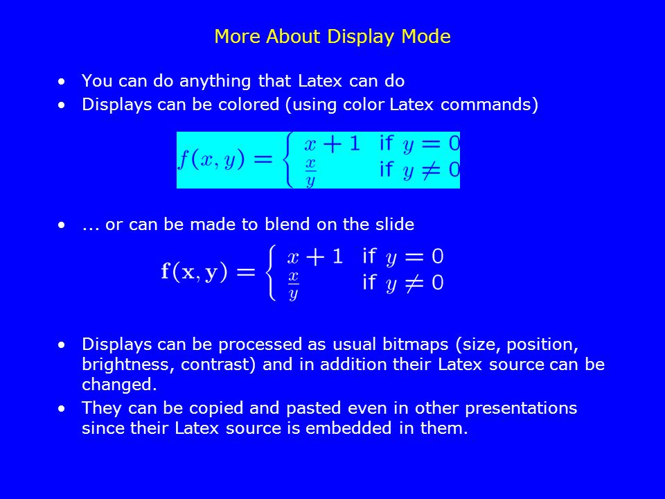 More About Display Mode