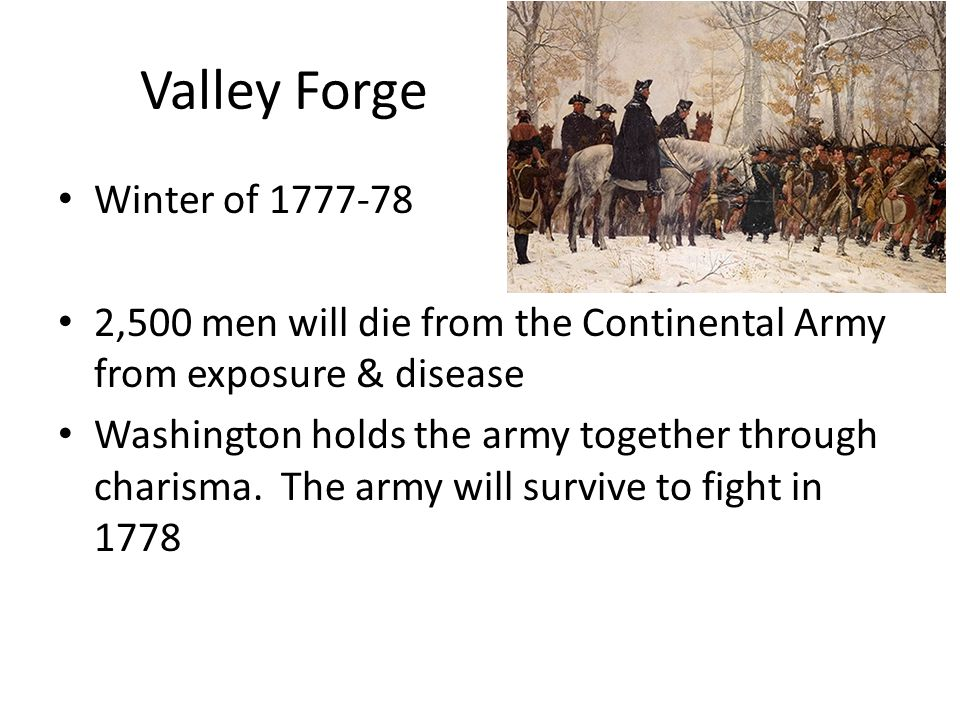 Valley Forge Winter of 1777-78