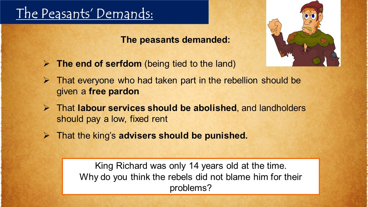 The Peasants' Demands: