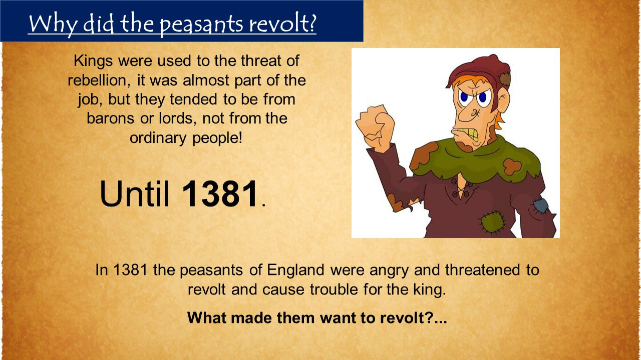 What made them want to revolt ...