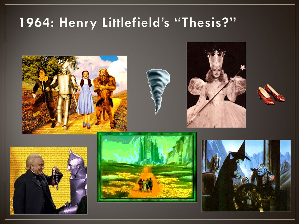 1964: Henry Littlefield's Thesis
