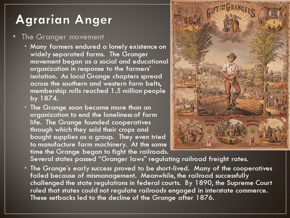 Agrarian Anger The Granger movement